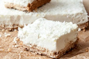 7-Ingredient Lemon & Coconut Squares; Vegan & Gluten-Free
