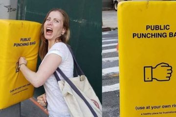 Would You Use It? Public Punching Bags on Manhattan Streets Installed to Help People Vent