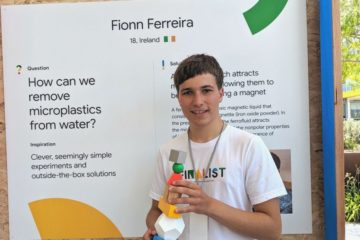Irish Teen Receives a Google Science Award for Removing Microplastics from Oceans