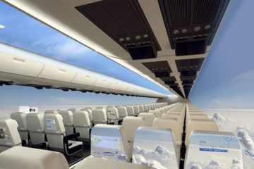 Windowless Planes: Would You Fly in a Plane with a Panoramic View of the Sky?