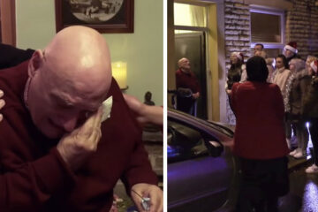 After 20 Years of Celebrating Christmas Alone, this Senior's Reaction to a Surprise Brought People to Tears