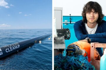 The 25-Year-Old's Dream to Clean the Great Pacific Garbage Patch Uses a Giant Device for Cleaning Plastic