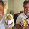 A Grandpa with Vitiligo Crochets Vitilgo Dolls for Children with the Same Condition